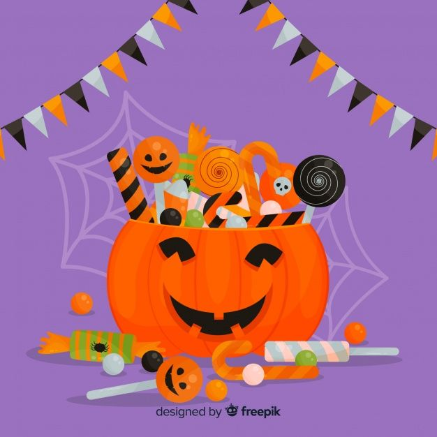 2020 Halloween Background Download Lovely Halloween Background With Flat Design for free