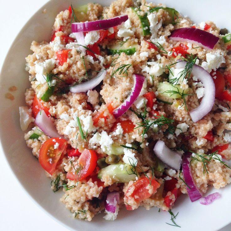 Healthy Living in Heels: Greek Couscous (V)