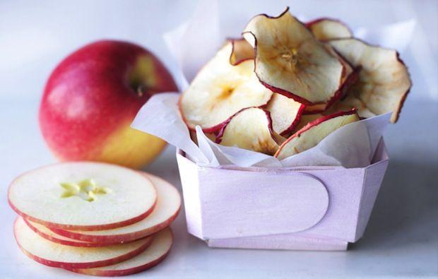 DIY gezonde traktatie met appel chips