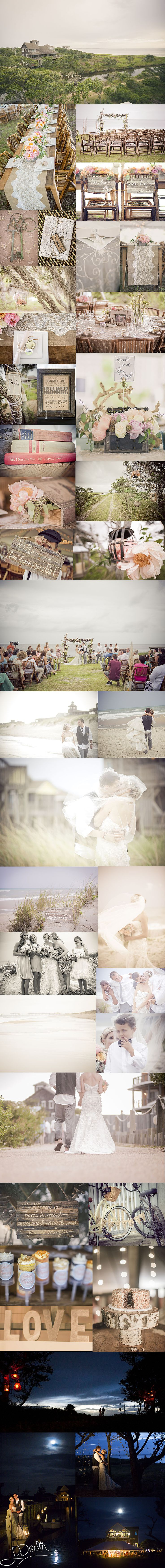 Julie Dreelins Beach Productions photography // Lovely details from an Outer Banks Wedding