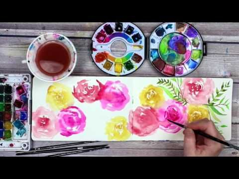 watercolor roses by alisaburke