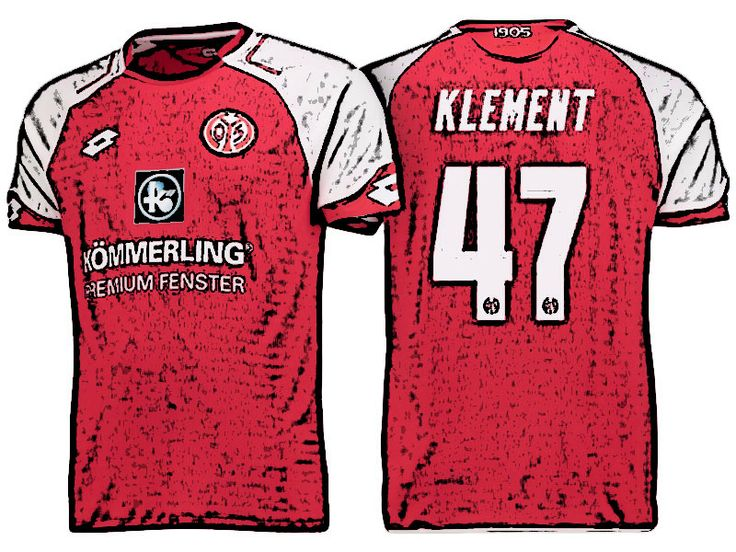 FSV Mainz 05 Kit Jersey For Cheap philipp klement 17-18 Home Shirt
