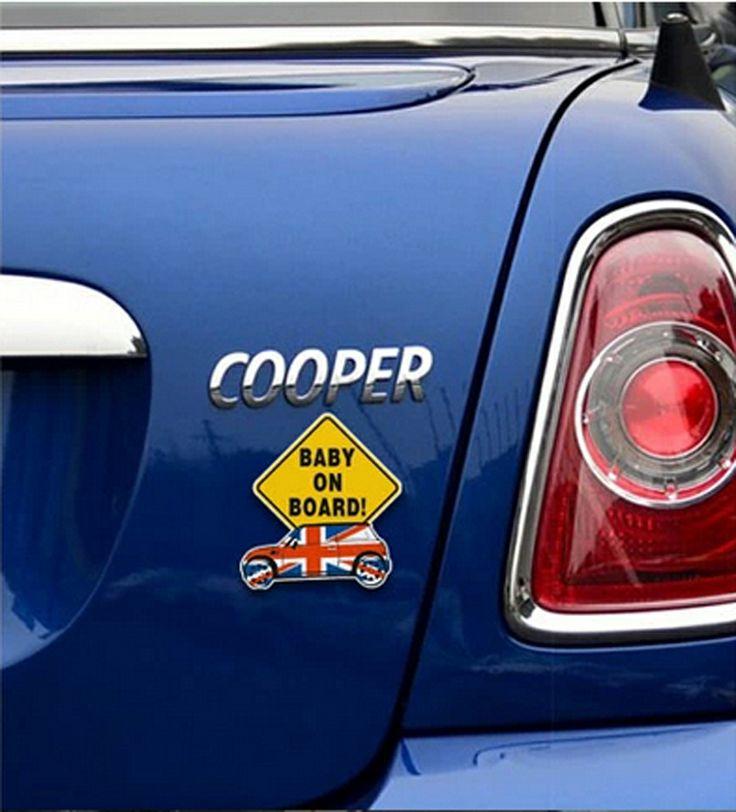 車のステッカー12*13cmボードのステッカー上に赤ちゃん自動車用品ビニールデカール車のステッカーのためのアクセサリーcountrymambmwミニクーパー