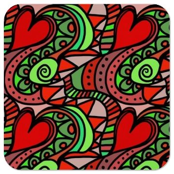 Cute Love Hearts Coaster   Lovely for valentines day