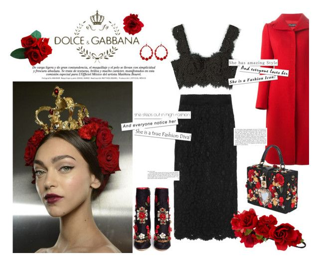 """Coming Up Roses"" by maria-tzi on Polyvore featuring Dolce&Gabbana, Tarina Tarantino and Accessorize"