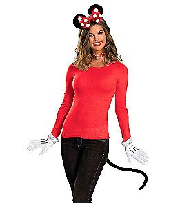 Product: Red Minnie Mouse Adult Costume Kit