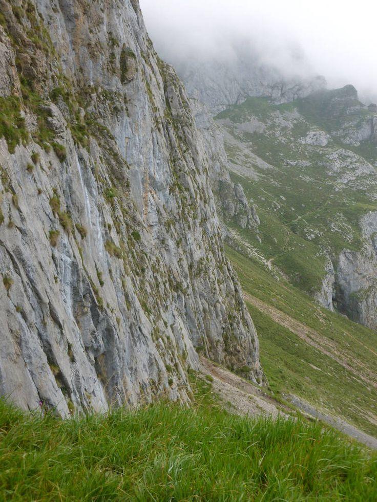 Along the edge of a treacherous cliff