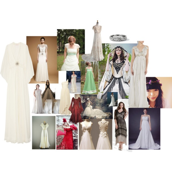 Inspiration for my wedding dress, created by sassyboodesigns on Polyvore
