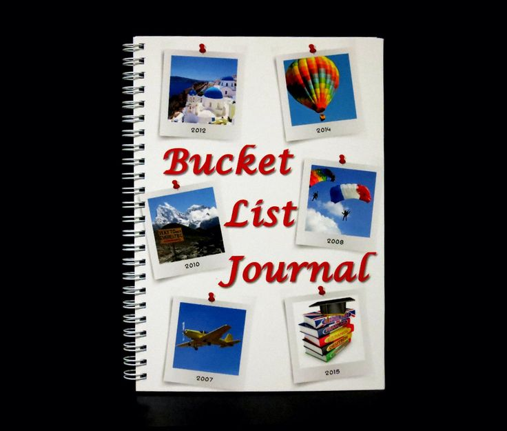 Bucket List Journal, A5 & Wire Bound, Custom Designed Pages for Each Bucket List Item, Great Gift Idea by JadoreBooks on Etsy https://www.etsy.com/listing/234853665/bucket-list-journal-a5-wire-bound-custom