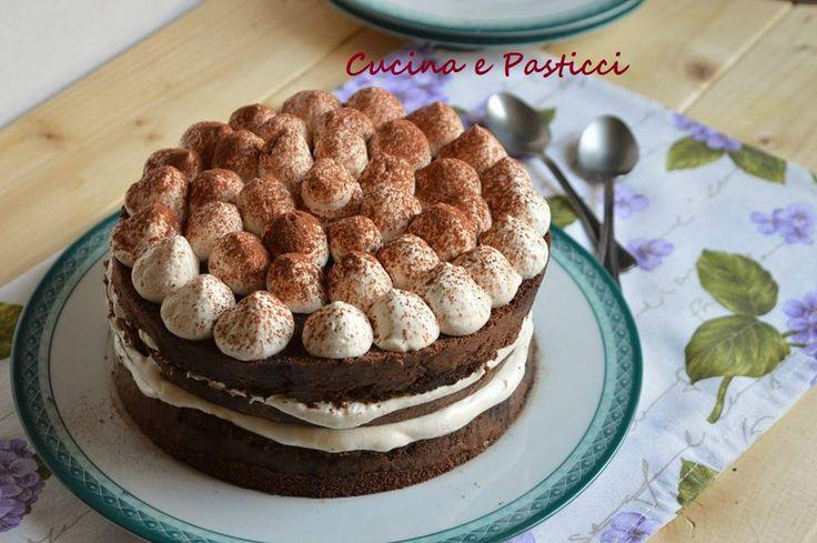 Torta+tiramisù+con+pan+di+spagna