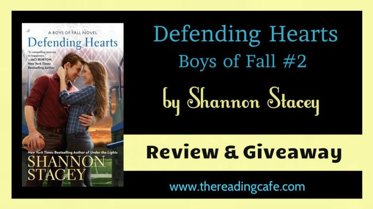 WIN a paper copy of DEFENDING HEARTS by Shannon Stacey at The Reading Cafe -October 27-31, 2015:  http://www.thereadingcafe.com/defending-hearts-by-shannon-stacey-review-giveaway/