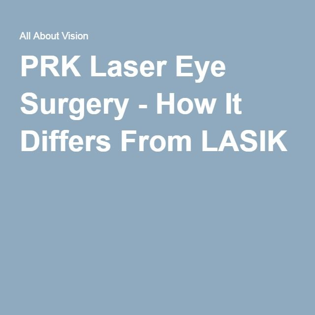 PRK Laser Eye Surgery - How It Differs From LASIK