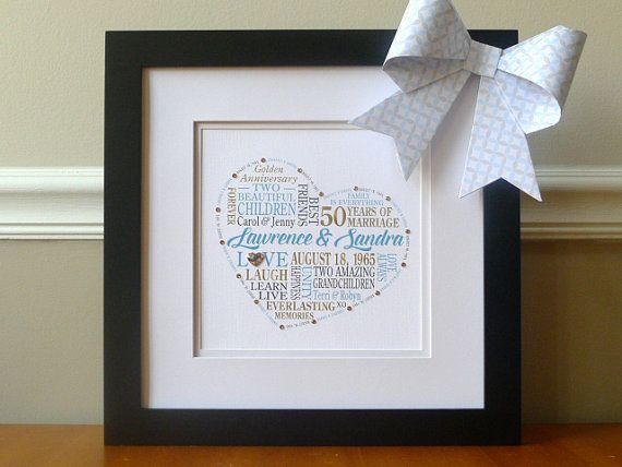 Golden Wedding Anniversary Gift: 25+ Unique Anniversary Gifts For Parents Ideas On