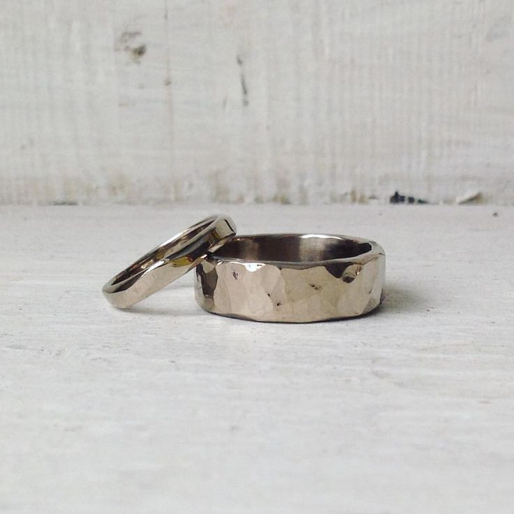latest pair of rings made by the couple themselves on one of our make your own wedding ring workshops - Make Your Own Wedding Ring