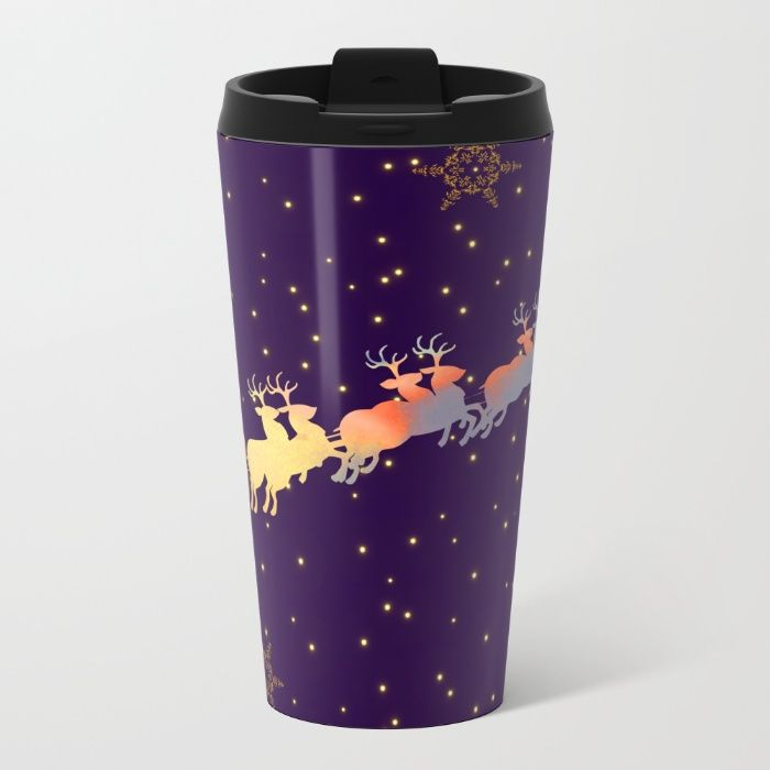 I dream of Santa Claus | Christmas Vision Metal Travel Mug by Azima | Society6