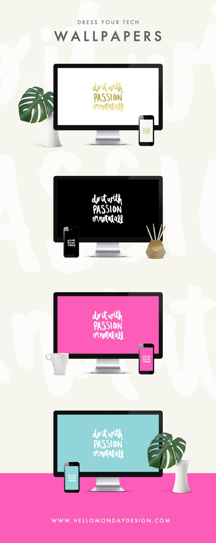 Free Wallpaper Downloads | Instant Download Wallpapers | Girl Boss | Boss Babe | 2017 desktop wallpapers | girl boss wallpapers | 2017 goals | 2017 resolutions | Inspirational Quote | Watercolor lettering | Dress Your Tech | Free Background | Hello Monday Design