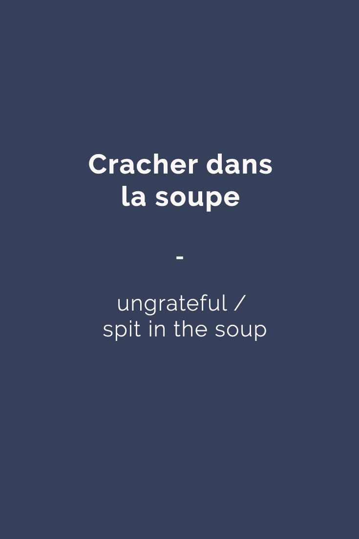 Here's an interesting idiomatic expression you can use to spice up your French. For more French expressions, get a copy of the ebook 365 days of French expressions here: https://store.talkinfrench.com/product/french-expressions/