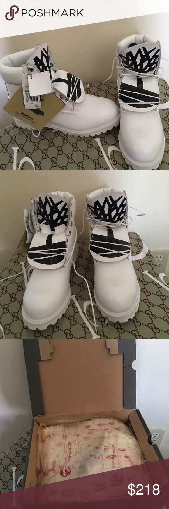 White Timberland boots Size 9 men Timberland Shoes Boots