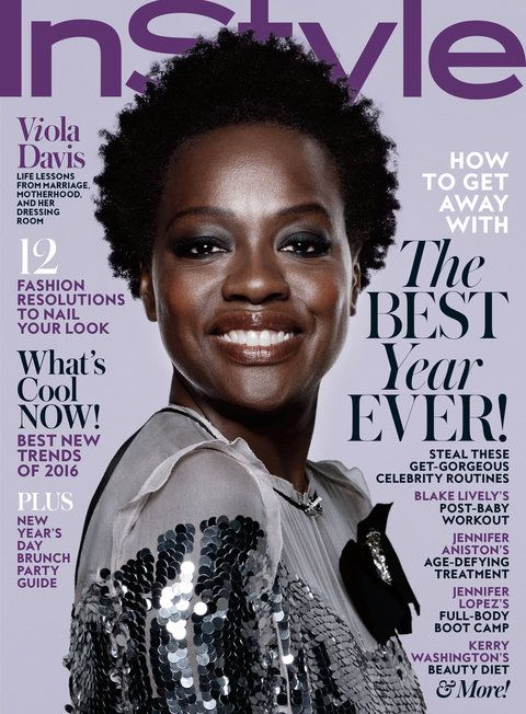 The Inspiring Reason InStyle' January Cover Star Viola Davis Wore Her Hair Natural to the 2015 Emmys from InStyle.com