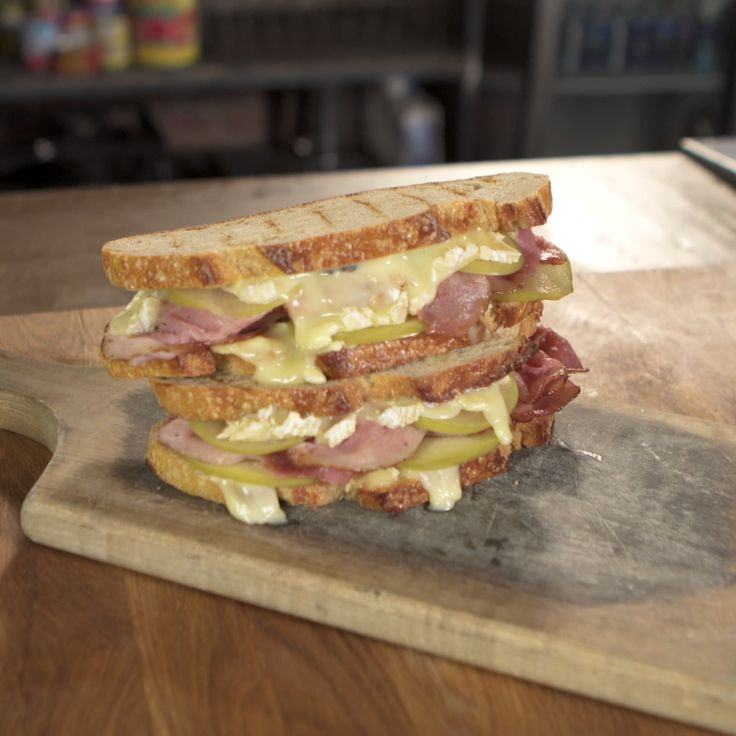 Marcus shows you how to make a Grilled Ham, Brie and Pickled Apple Sandwich.