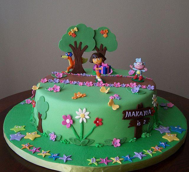 Cake Design Dora L Exploratrice : 17 Best images about Dora Cakes on Pinterest Dora cake ...