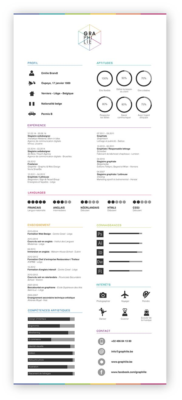images about infographic cv ideas infographic curriculum vitaelig graphilie by emilie brandt on behance