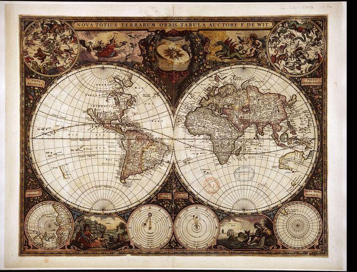 nova totius terrarum orbis tabula. Древние карты мира в высоком разрешении - Старинные карты