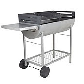 Blooma Adstock Half Barrel Charcoal Trolley Barbecue reduced from £79 to £49