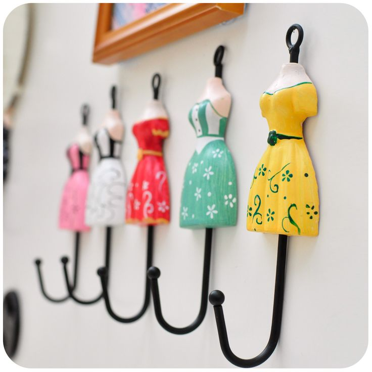 Silent love ♥ retro wooden palace princess style dress creative wrought iron hook hook - Taobao