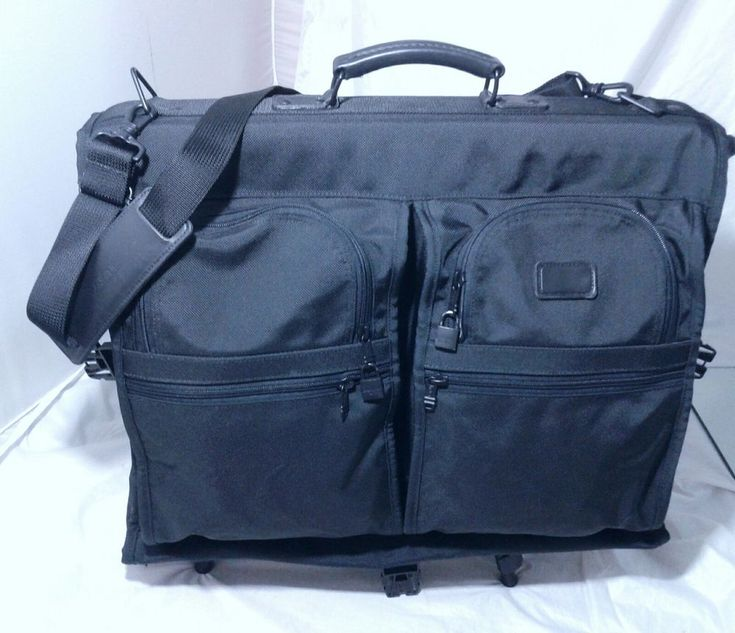 TUMI Tri-Fold Carry On Garment Bag Suits Bag  Black Ballistic Nylon Retail $395 #Tumi
