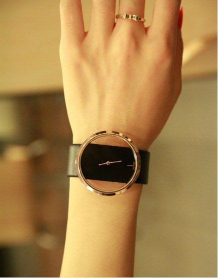 fashion watch free shipping Exquisite Hollow Dial Leather Watchband Wrist Watch for Female lady watch-in Wristwatches from Watches on Albaba.com