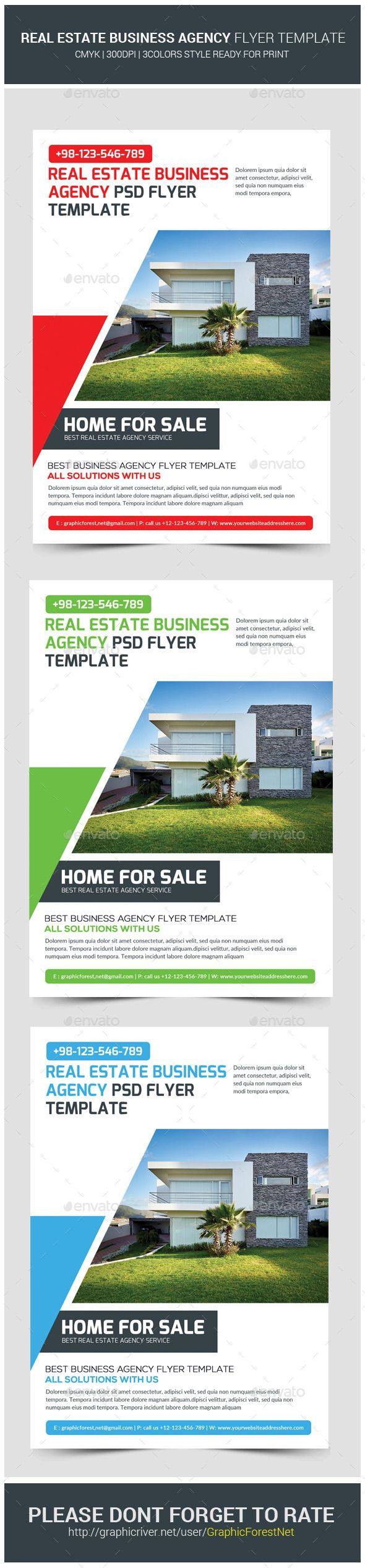 #Real #Estate Agency Business Flyer #Template - #Corporate #Flyers Download here: https://graphicriver.net/item/real-estate-agency-business-flyer-template/11394487?ref=alena994