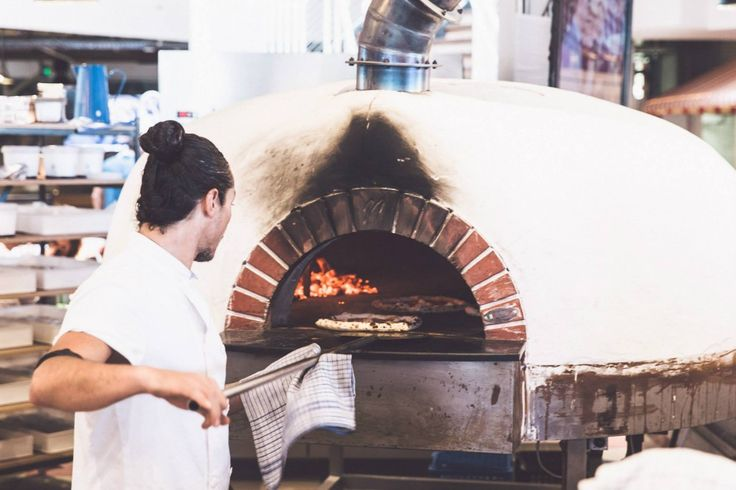 The Valoriani wood fired oven in action at the Coogee Pavilion, NSW, Australia.