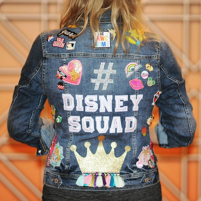 Create your own embellished Disney Jean jacket with patches, buttons, and pins. Visit the shops of GoPinPro, Lillian & Lloyd, and Sweetest Nerdy Dreams to get all that you need for your own DIY Disney Jacket.