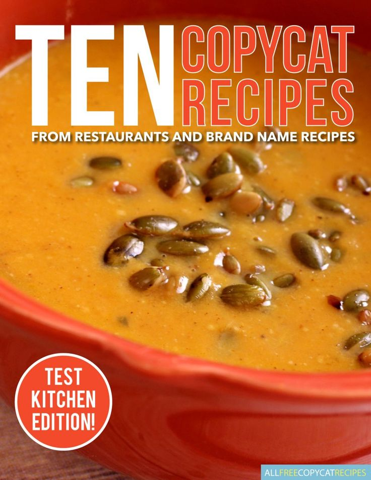 10 Copycat Recipes from Restaurants & Brand Name Recipes Free eCookbook | Love all of these homemade restaurant recipes!