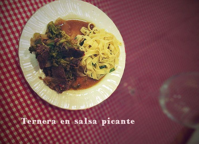 Ternera en salsa picante para #Mycook http://www.mycook.es/cocina/receta/ternera-en-salsa-picante