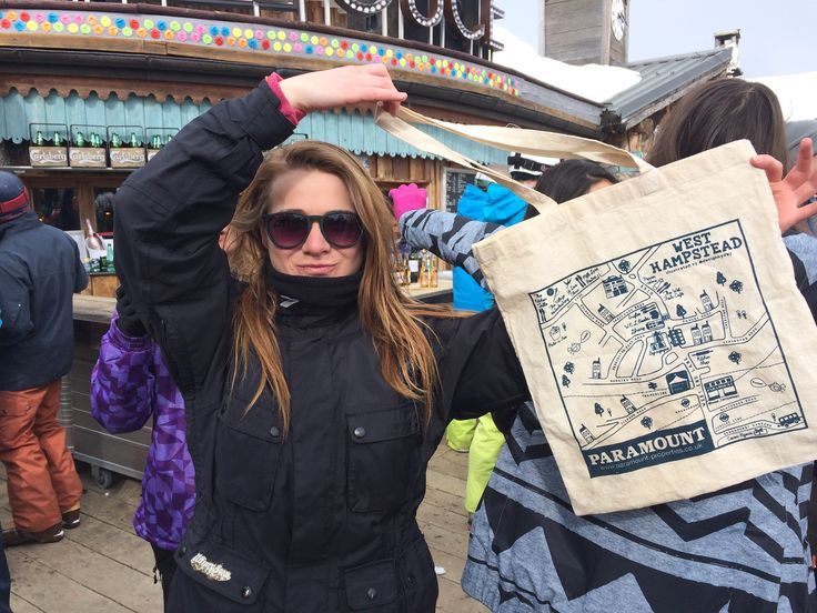 West Hampstead bag goes skiing in Tignes and Val d'Isere. Pictured here in front of the world famous Folie Douce.