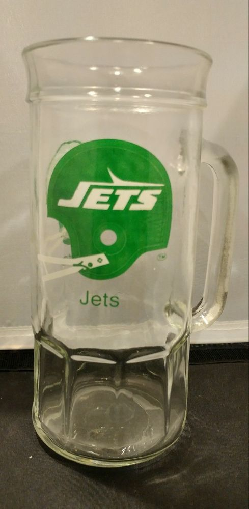 New York Jets  NFL Football Large Heavy Glass Drink Mug #NewYorkJets