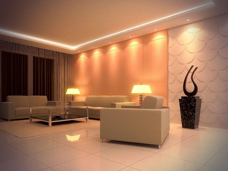 wohnzimmer design venizianische spachteltechnik-deckengestaltung, Wohnzimmer
