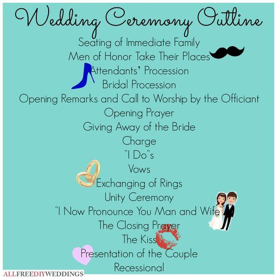 The  Best Wedding Ceremony Outline Ideas On   Wedding