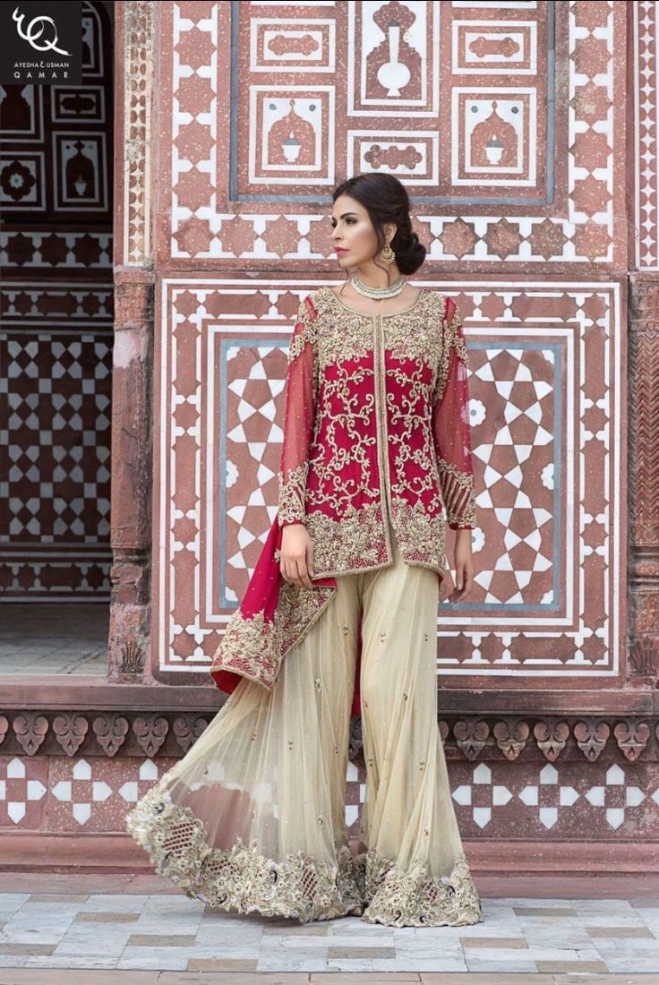 Pakistani couture Fouzia Aman in Ayesha and Usman Qamar Bridal collection