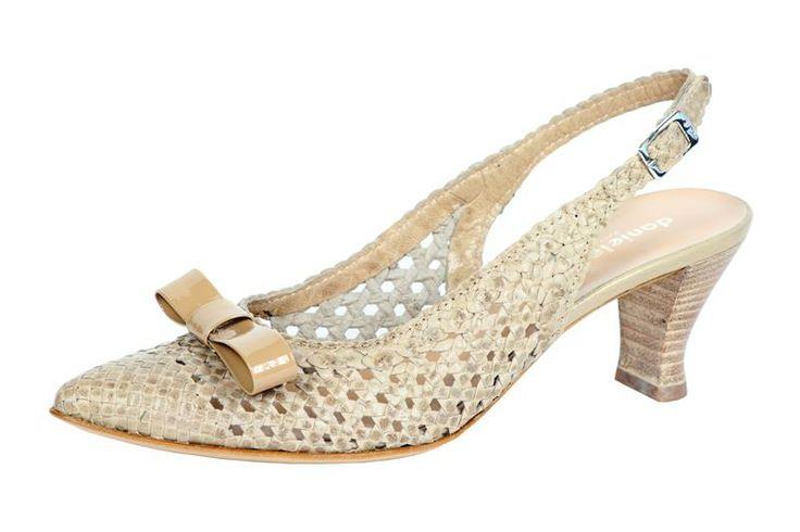 Scarpa modello Chanel in pelle intrecciata con fiocco in punta Daniele Tucci Shoes