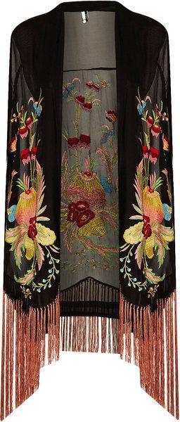Floral Embroidered Kimono.