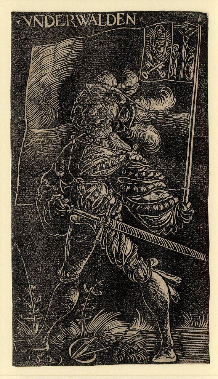Standard Bearer of Unterwalden by Urs Graf, 1521