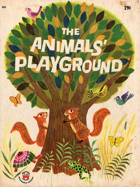 The Animals' Playground - written by Virginia Stone Marshall, illustrated by Art Seiden (1964).