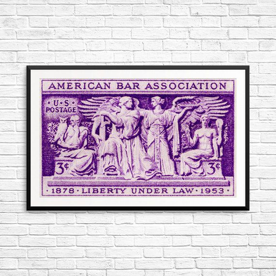 American Bar Association Liberty Under Law lawyer by USAStampArt