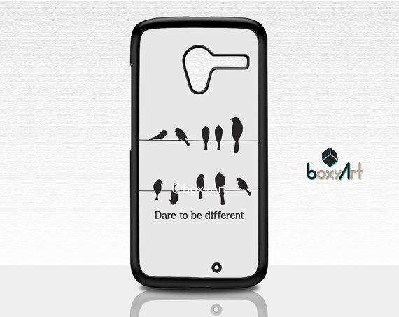 Motorola Moto X Case Dare To Be Different Birds by boxyArts