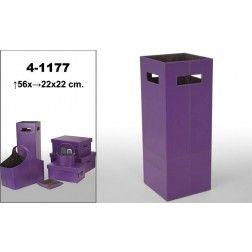 Paragüero moderno cuadrado Polipiel violeta en Nuryba.com tu tienda de muebles y decoracion online