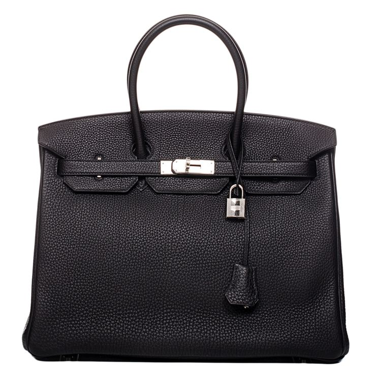 Hermes Birkin Togo Bag in Black with Palladium Hardware #hermes