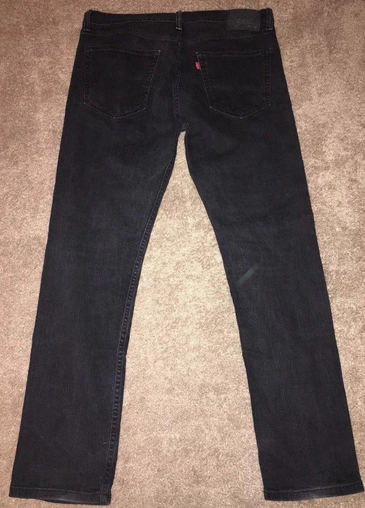 Mens Black Levi's 508 Regular Tapered Jeans Size 36X32 inseam like 30  | eBay
